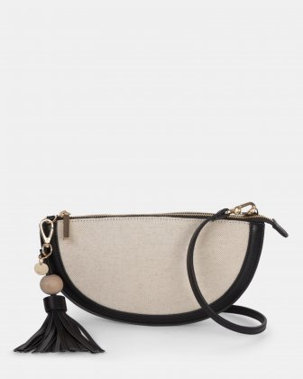 Garbo - Crossbody bag Canvas & leather-like trims - Natural/black Céline Dion