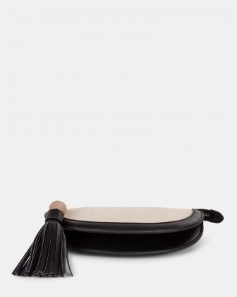 Garbo - Crossbody bag Canvas & leather-like trims - Natural/black - Céline Dion