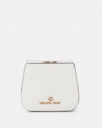 GRAZIOSO - Small rounded wallet with integrated coin clasp - white Céline Dion