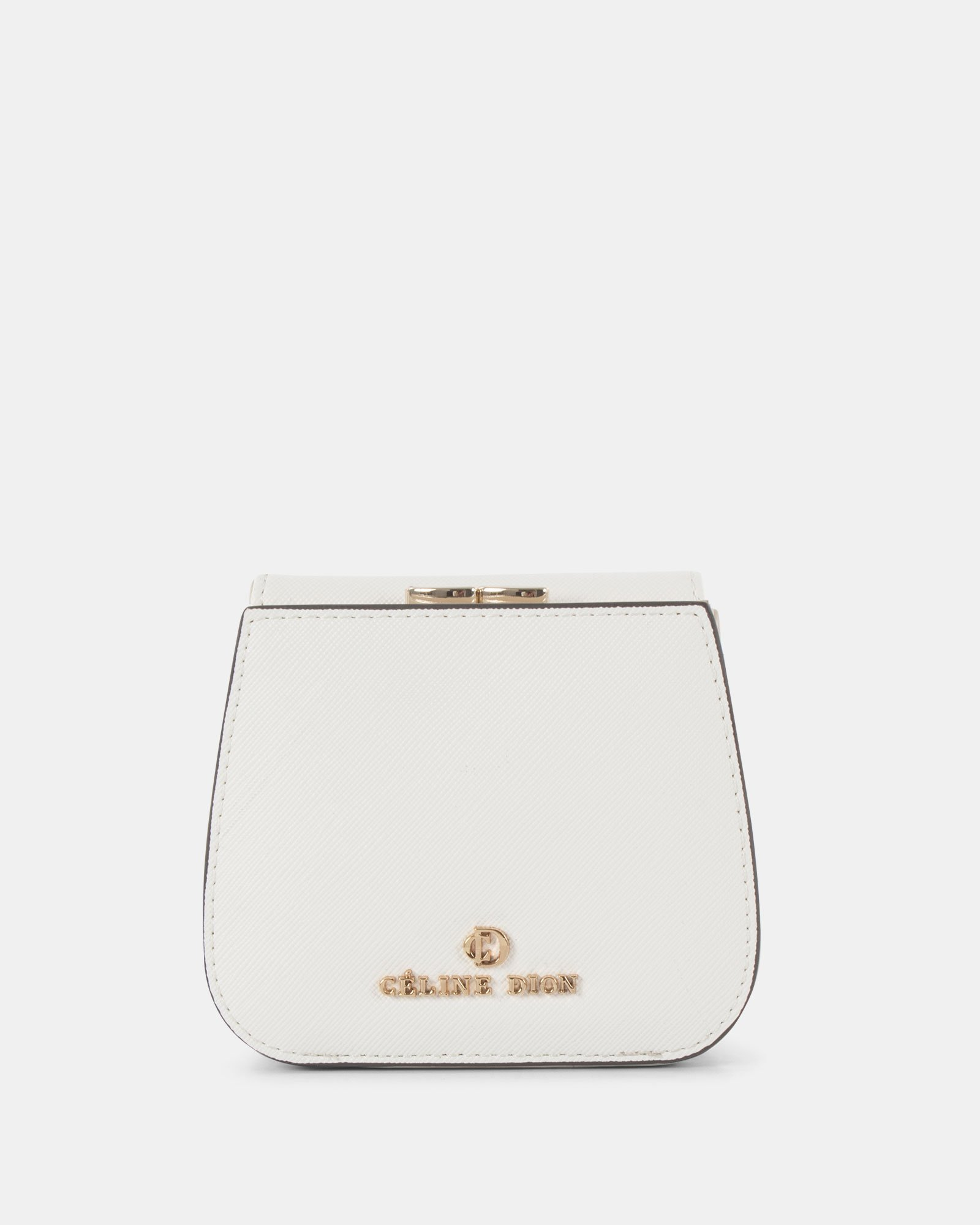 GRAZIOSO - Small rounded wallet with integrated coin clasp - white - Céline Dion - Zoom