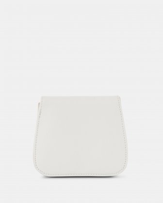 GRAZIOSO - Small rounded wallet with integrated coin clasp - white - Céline Dion