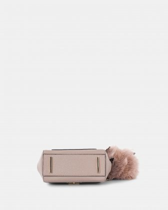 Scale – Small Handle bag with interior zippered pocket - Nude - Céline Dion