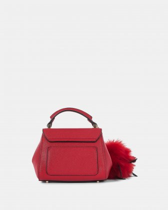 Scale – Small Handle bag with interior zippered pocket - Red - Céline Dion