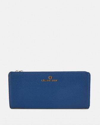 GRAZIOSO - Long Wallet with zipped - Indigo Céline Dion