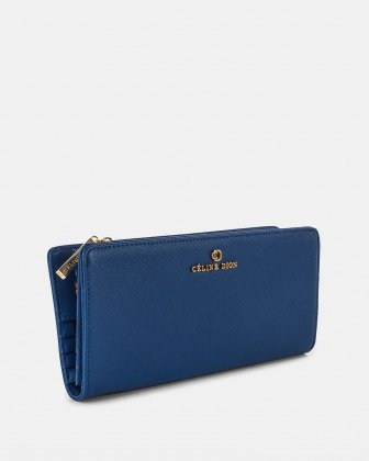 GRAZIOSO - Long Wallet with zipped - Indigo - Céline Dion