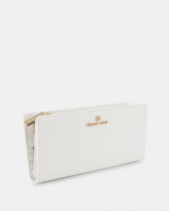 GRAZIOSO - Wallet wallet with zipped - White Céline Dion