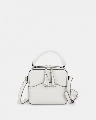 MOTIF - Handle Bag with adjustable and removable strap - White Céline Dion