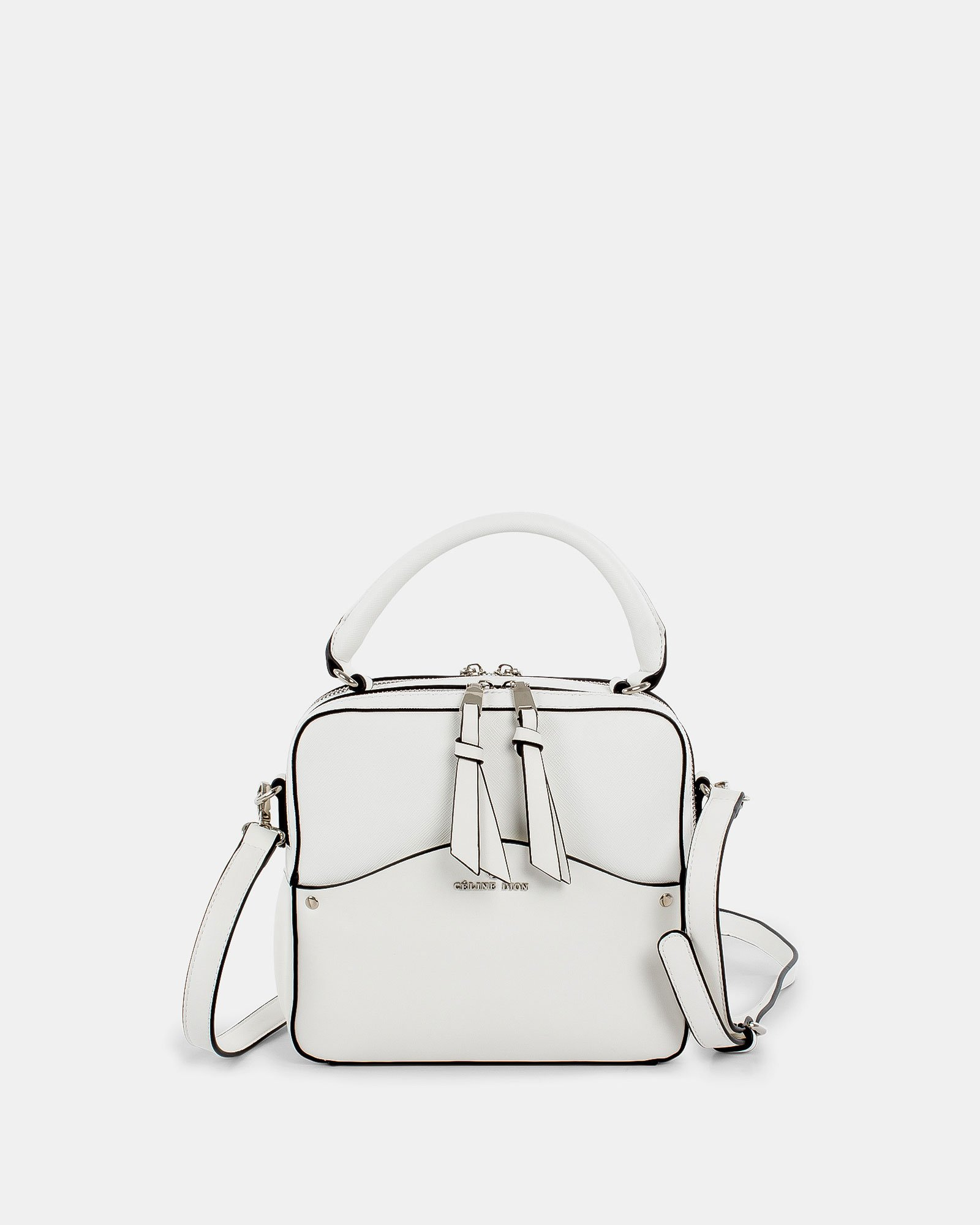 MOTIF - Handle Bag with adjustable and removable strap - White - Céline Dion - Zoom