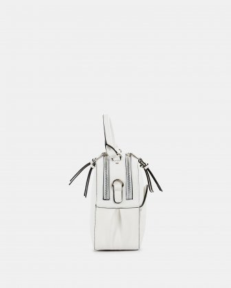MOTIF - Handle Bag with adjustable and removable strap - White - Céline Dion