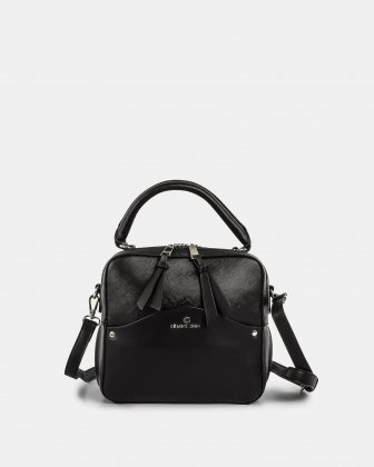 MOTIF - Handle Bag with adjustable and removable strap - Black Céline Dion