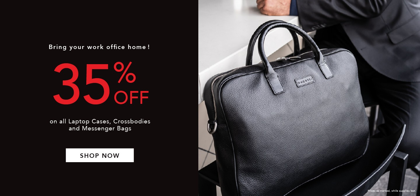 25% Off on all Laptop Cases, Crossbodies and Messenger Bags