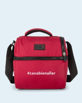 100% OF THE PROFITS WILL BE DONATED - 2 compartments cooler bag red cavabienaller Bondstreet