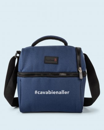 100% OF THE PROFITS WILL BE DONATED - 2 compartments cooler bag navy cavabienaller Bondstreet