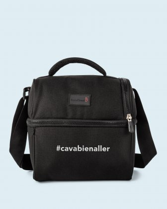 100% OF THE PROFITS WILL BE DONATED - 2 compartments cooler bag black cavabienaller Bondstreet