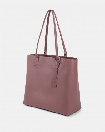 "PURE - VEGAN LEATHER BUSINESS TOTE BAG for 14"" laptops or tablet -PINK Bugatti"