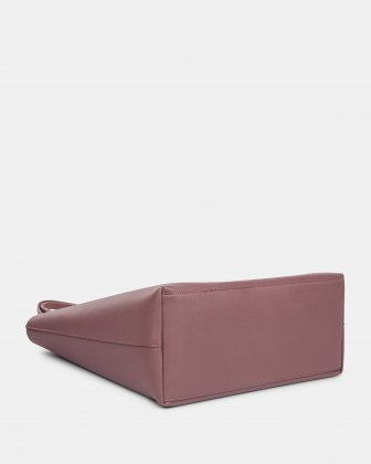 """PURE - VEGAN LEATHER BUSINESS TOTE BAG for 14"""" laptops or tablet -PINK - Bugatti"""