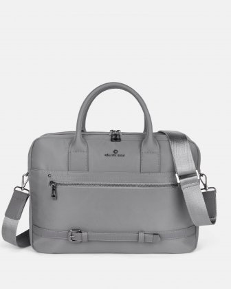PRESTO - Briefcase with removable and adjustable shoulder strap - Grey Céline Dion