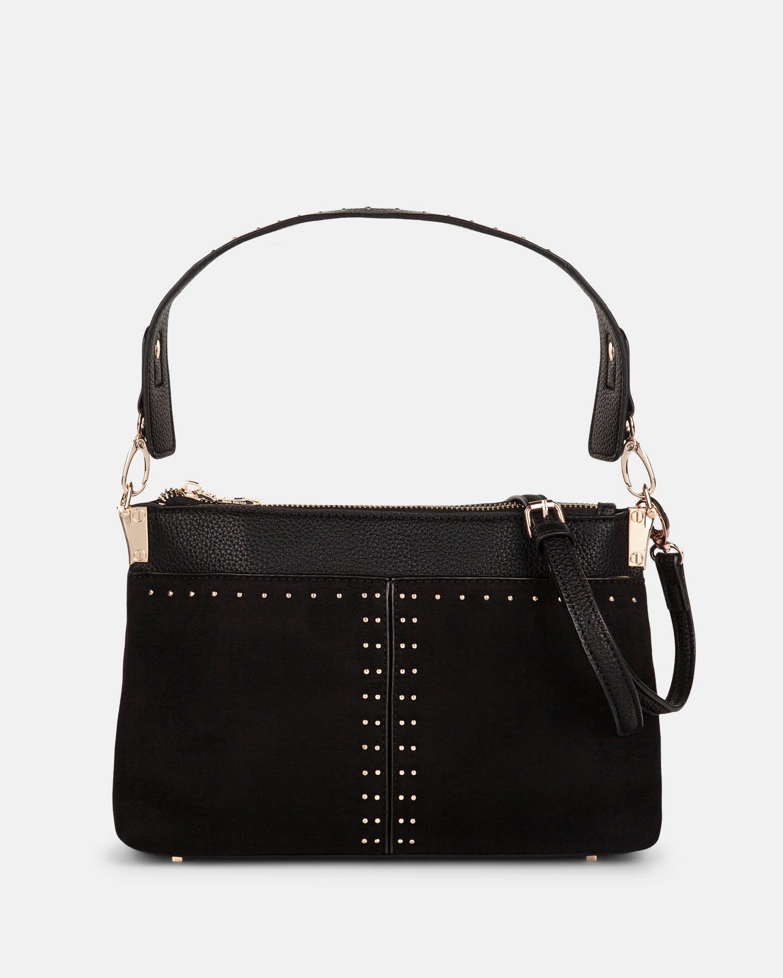 HARMONY - CLUTCH converted to a small shoulder bag - Black - Céline Dion - Zoom