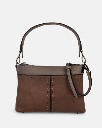 HARMONY - CLUTCH converted to a small shoulder bag - Taupe Céline Dion