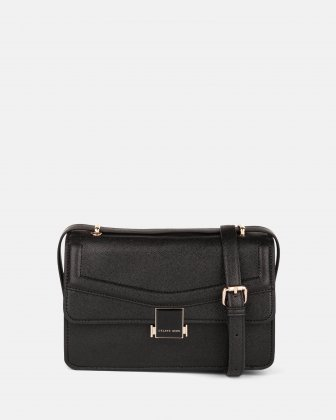 Scale – Leather-like flap bag - Black Céline Dion