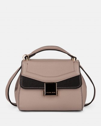 Scale – Small Handle bag with interior zippered pocket - Nude Céline Dion