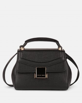 Scale –  Small Handle bag with interior zippered pocket - Black Céline Dion