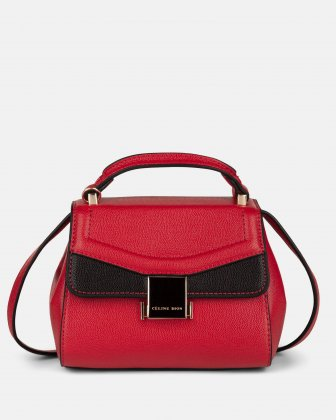 Scale – Small Handle bag with interior zippered pocket - Red Céline Dion