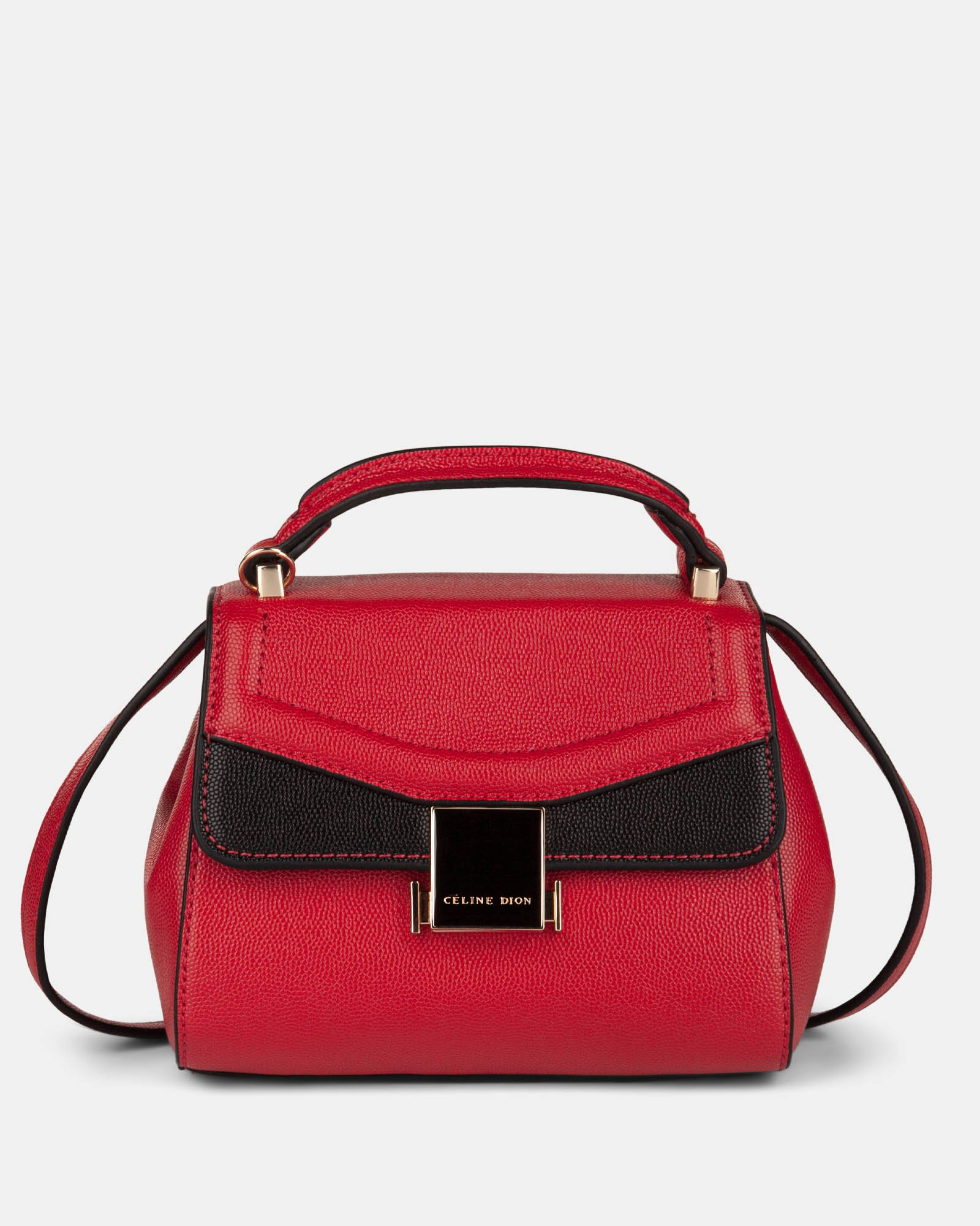 Scale – Small Handle bag with interior zippered pocket - Red - Céline Dion - Zoom