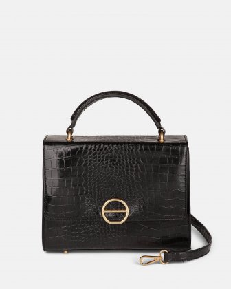 SONATA - Leather-like HANDLE BAG - Black Céline Dion
