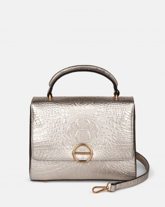 SONATA - Leather-like handle bag - Gold Céline Dion