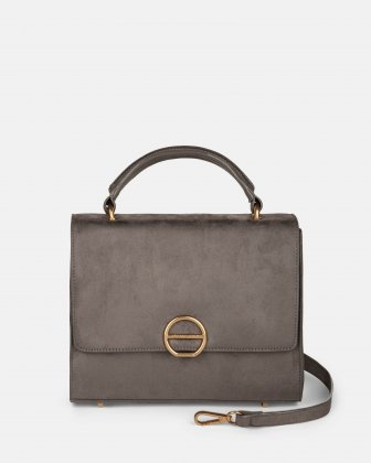 SONATA - Suede-like HANDLE BAG - Grey Céline Dion