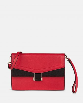 Scale – Clutch bag with Back easy access pocket - Red Céline Dion