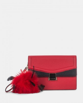 Scale – Clutch bag with Back easy access pocket - Red - Céline Dion