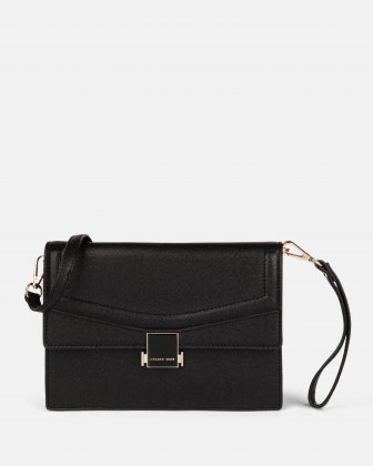 Scale – Clutch bag with Back easy access pocket - Black Céline Dion
