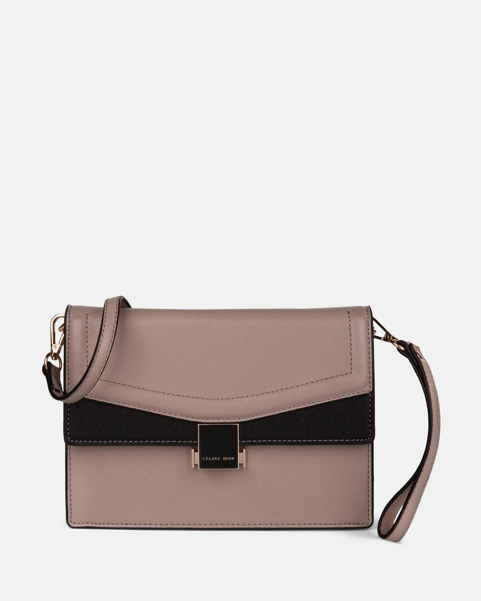 Scale - Clutch bag with Back easy access pocket - Nude - Céline Dion - Zoom