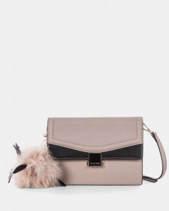 Scale - Clutch bag with Back easy access pocket - Nude - Céline Dion