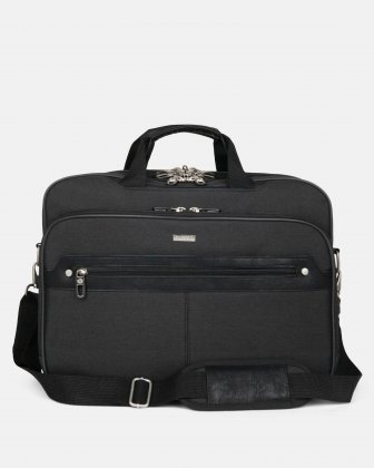 "HARRY -  Executive Briefcase WITH Padded laptop compartment FOR 17.3"" - GREY  Bugatti"