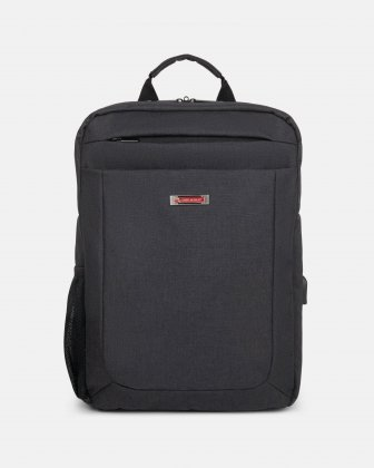 CADENCE - 15.6 in computer Backpack with USB port - Charcoal - Swiss Mobility