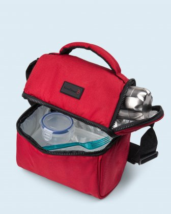 100% OF THE PROFITS WILL BE DONATED  - 2 compartments cooler bag red everythingwillbeok Bondstreet