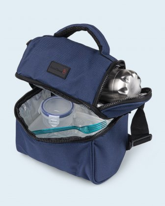 100% OF THE PROFITS WILL BE DONATED  - 2 compartments cooler bag navy everythingwillbeok Bondstreet