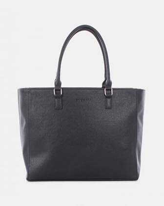 "BUGATTI - VEGAN LEATHER BUSINESS TOTE BAG for 15.6"" laptop - BLACK Bugatti"