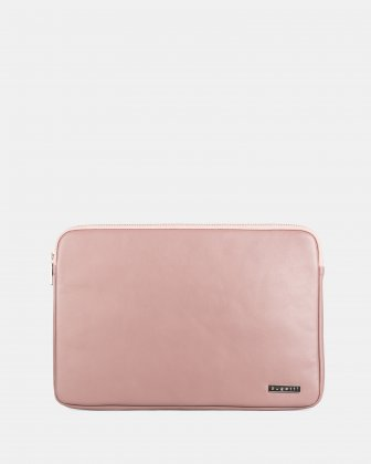 "BUGATTI - 14"" LAPTOP SLEEVE with Anti-scratching soft interior - PINK Bugatti"
