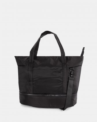 "TRAVELLER - BUSINESS TOTE for 14"" laptops with Detachable wet pocket - Black Bugatti"