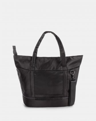 """TRAVELLER - BUSINESS TOTE for 14"""" laptops with Detachable wet pocket - Black - Bugatti"""