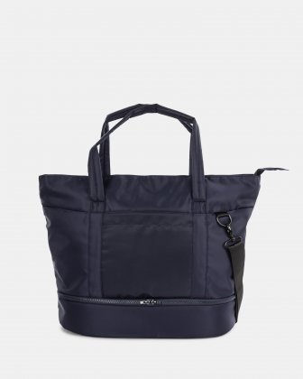 "TRAVELLER - BUSINESS TOTE for 14"" laptops with Detachable wet pocket - NAVY Bugatti"