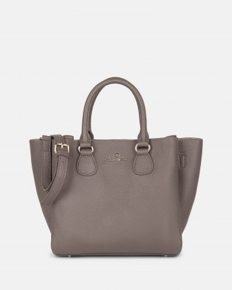 ADAGIO - LEATHER SATCHEL BAG - TAUPE Céline Dion