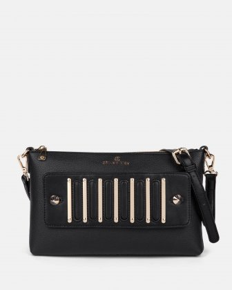 INTERVAL - Clutch with removable crossbody straps  - Black Céline Dion