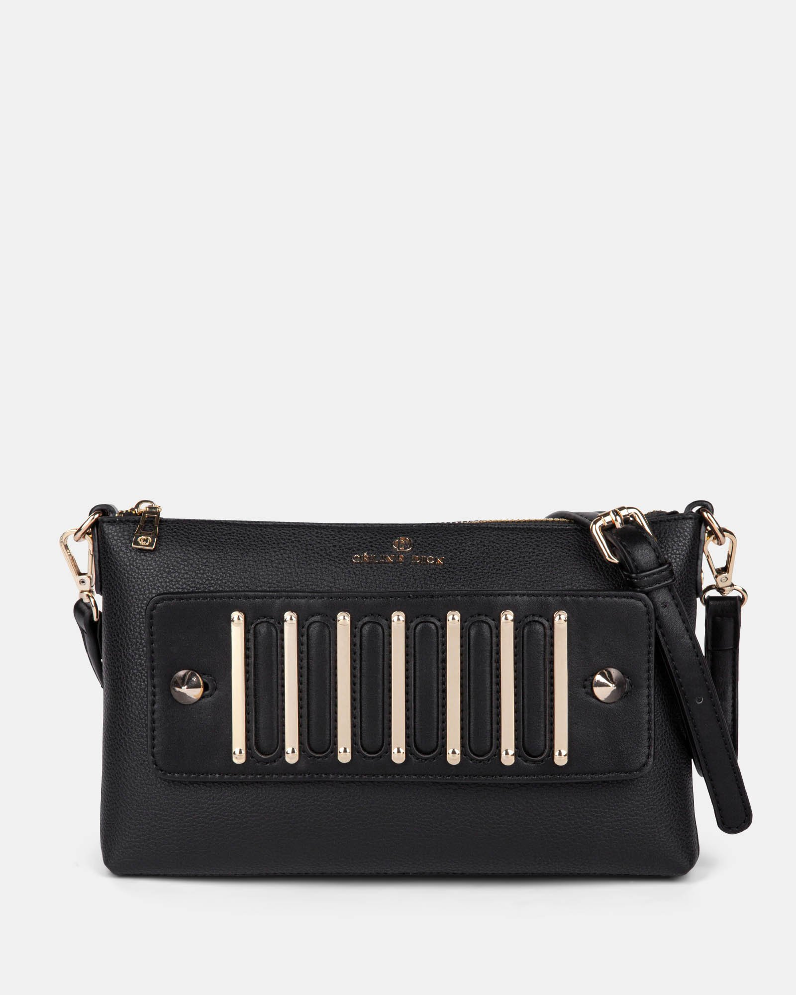 INTERVAL - Clutch with removable crossbody straps  - Black - Céline Dion - Zoom