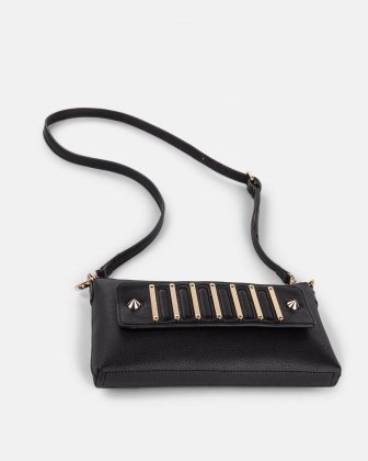INTERVAL - Clutch with removable crossbody straps  - Black - Céline Dion