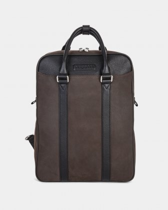 "Bugatti BALANCE - BACKPACK FOR 14"" LAPTOP with Adjustable and removable straps - BROWN"
